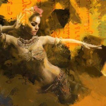 Arabische Schilderij Egyptische Buikdanseres