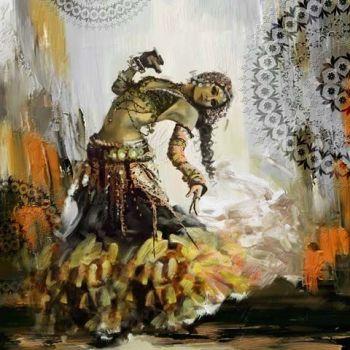 Arabische Schilderij Oriëntaalse Buikdanseres