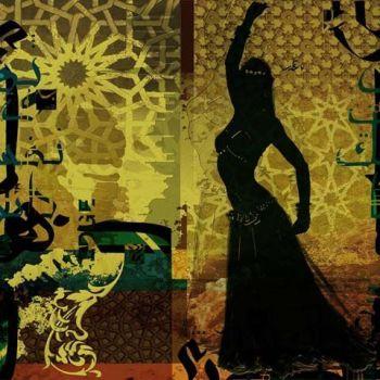 Arabische Schilderij Oriental Belly dancer
