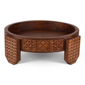 Chakki houtentafel Ø 60 x 22cm