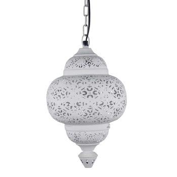 Egyptische Hanglamp Amal Wit Ø 23 x 39cm