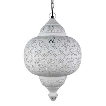 Egyptische Hanglamp Amal Wit Ø 33 x 51cm