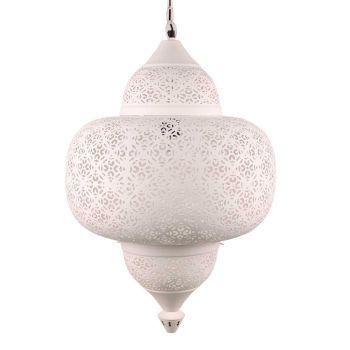Egyptische Hanglamp Amal Wit Ø 42 x 63cm