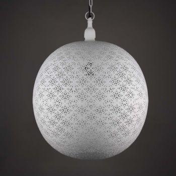 Egyptische Hanglamp Elisa Wit Ø 50 x 62cm