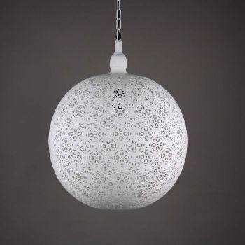 Egyptische Hanglamp Elisa Wit Ø 40 x 50cm