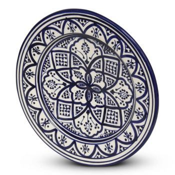 Marokkaanse Bord Blauw Nakhil Ø 26 x 4cm
