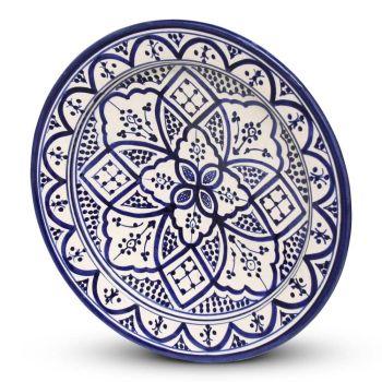 Marokkaanse Bord Blauw Nakhil Ø 35cm x 5cm