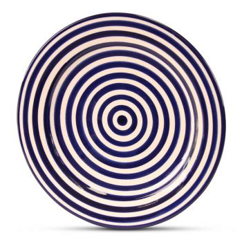 Marokkaanse Bord Blauw Zebra Ø 25cm