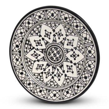 Marokkaanse Bord Zwart Zerbia Ø 26 x 4cm
