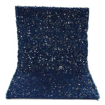 Marokkaanse Handira bedsprei Deken Blauw 115 x 185cm