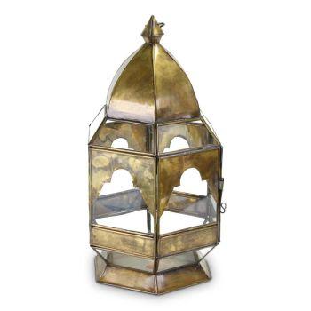 Marokkaanse Lantaarn Goud Medium Lila