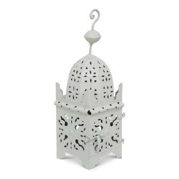 Marokkaanse Lantaarn Wit Medium Anbar