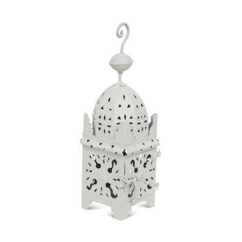 Marokkaanse Lantaarn Wit Small Anbar