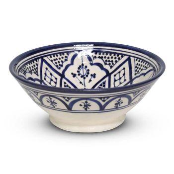 Marokkaanse Schaal Blauw Nakhil Mya Ø 20 x 8cm