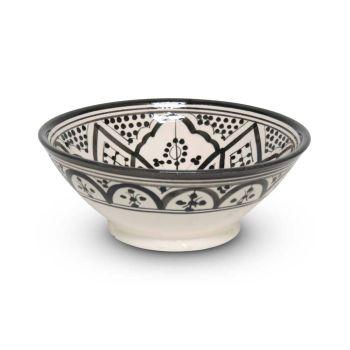 Marokkaanse Schaal Zwart Nakhil Mya Ø 20 x 8cm