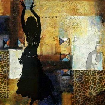 Marokkaanse Schilderij Arabic Belly Dance Goud