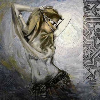 Marokkaanse Schilderij Buikdanseres Sluier