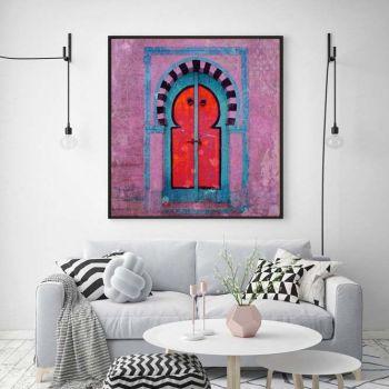 Marokkaanse Schilderij Poort Lila