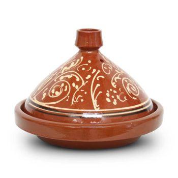Marokkaanse Tajine met motief Bol Ø 35 x 24cm