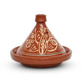 Marokkaanse Tajine met motief Kegel Ø 30 x 22cm