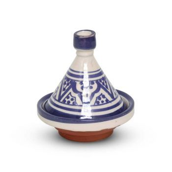 Marokkaanse Tajine mini Blauw Nakhil Ø 11 x 12cm