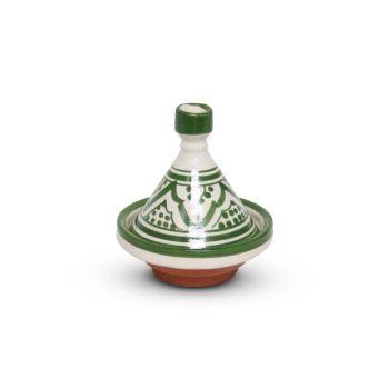 Marokkaanse Tajine mini Groen Nakhil Ø 11 x 12cm