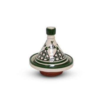 Marokkaanse Tajine mini Groen Zerbia Ø 11 x 12cm