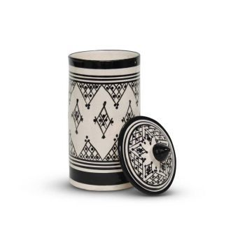 Marokkaanse Voorraadpot Zwart Zerbia Ø 11 x 24cm