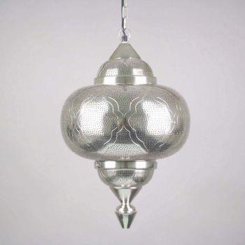 Oosterse Hanglamp Azhara Nikkel Goud Ø 33 x 52cm