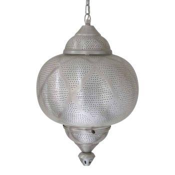 Oosterse Hanglamp Farah Zilver Ø 33 x 52cm