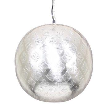Oosterse Hanglamp Fatiha Zilver Ø 40 x 44cm