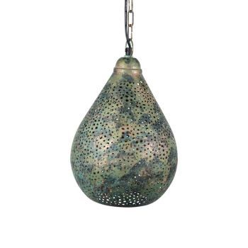Oosterse Hanglamp Green Patina Avani Ø 23 x 35cm