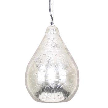 Oosterse Hanglamp Haifa Zilver Ø 23 x 35cm