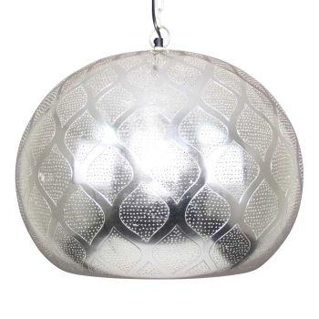 Oosterse Hanglamp Houda Zilver  Ø 46 x 40cm