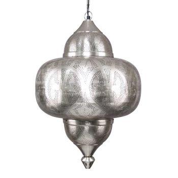 Oosterse Hanglamp Inaya Nikkel Goud Ø 42 x 63cm