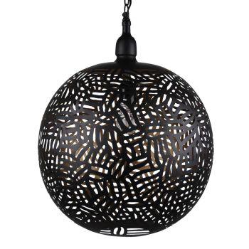 Oosterse Hanglamp Zebra Faiza Zwart Goud Ø 40 x 50cm