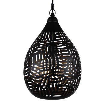 Oosterse Hanglamp Zebra Jawahir Zwart Goud Ø 29 x 43cm
