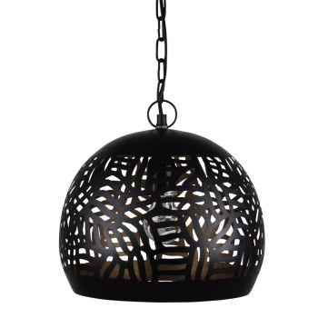 Oosterse Hanglamp Zebra Zafina Zwart Goud Ø 27 x 26cm