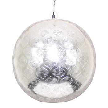 Oosterse Hanglamp Zilver Saida Ø 40 x 44cm