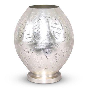 Oosterse Tafellamp Meryama Zilver Ø 26 x 32cm