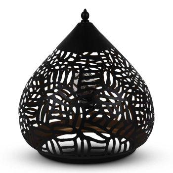 Oosterse Tafellamp Zebra Jara Zwart Goud Ø 31 x 31cm