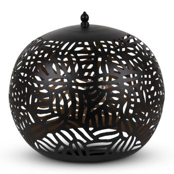Oosterse Tafellamp Zebra Maji Zwart Goud Ø 35 x 32cm