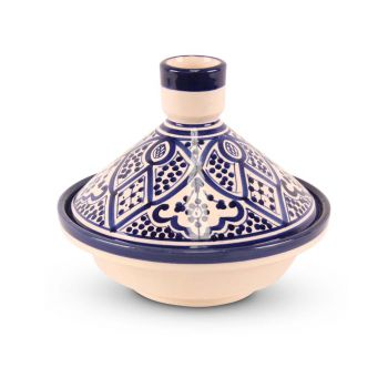 Tajine Blauw met Nakhil Motief