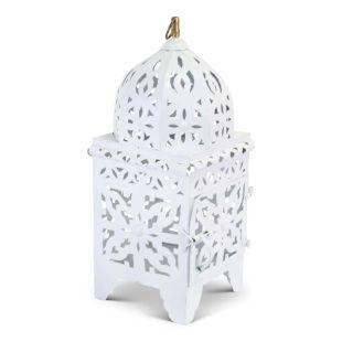 Marokkaanse Lantaarn Wit Medium Nimra