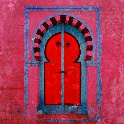 Marokkaanse Schilderij Poort Roze